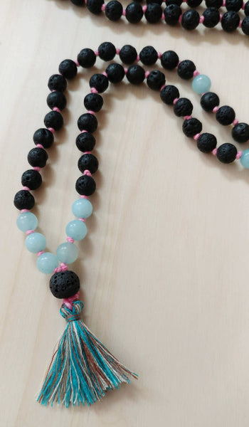 Aromatherapy Lava Bead Mala Necklace