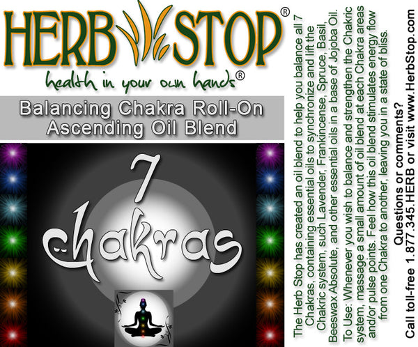 7 Chakras Roll-On Label