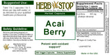 Acai Berry Capsules Label
