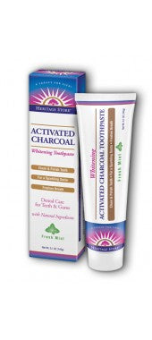 Heritage Store Activated Charcoal Toothpaste