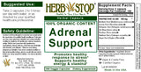 Adrenal Support Capsules Label