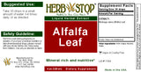 Alfalfa Leaf Extract Label