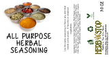 All Purpose Herbal Seasoning Label