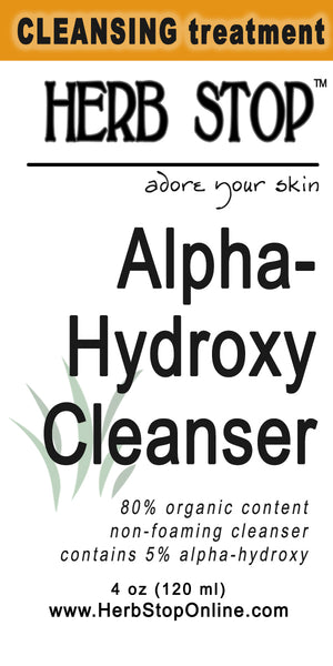 Alpha-Hydroxy Cleanser Label
