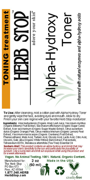 Alpha-Hydroxy Toner Label