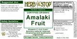 Amalaki Fruit Capsules Label
