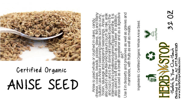 Organic Anise Seed Label