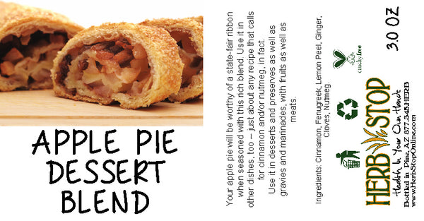 Apple Pie Dessert Blend Label