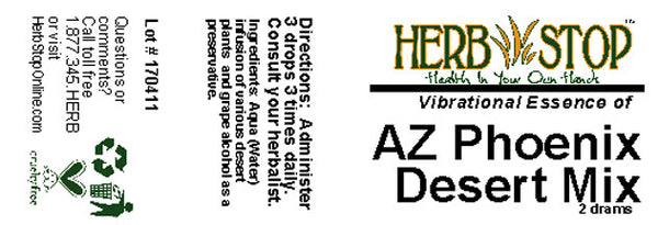 Arizona Phoenix Desert Mix Label