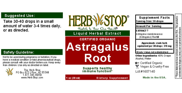 Astragalus Extract Label