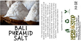 Bali Pyramid Salt Label