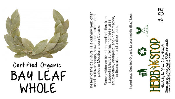 Organic Bay Leaf Whole Label