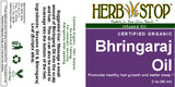 Bhringaraj Oil Label