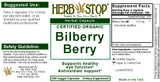 Bilberry Berry Capsules Label