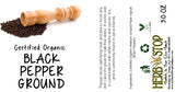 Black Pepper Ground Label