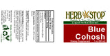Blue Cohosh Extract Label