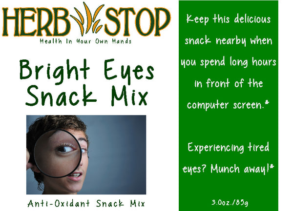 Bright Eyes Snack Mix Label