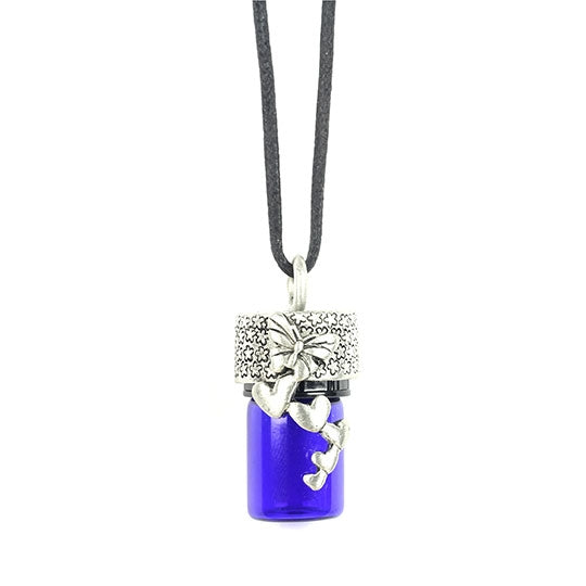 Butterfly Hearts Aroma Bottle Diffuser Necklace