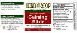 Calming Elixir Extract Label