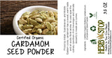 Organic Cardamom Seed Powder Label
