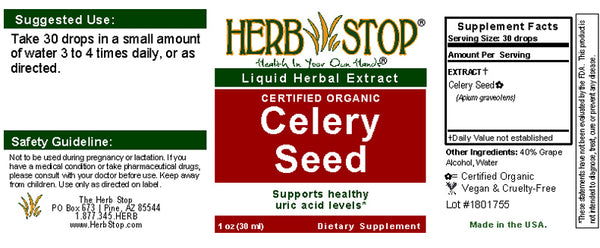 Celery Seed Extract Label