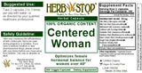 Centered Woman Capsules Label