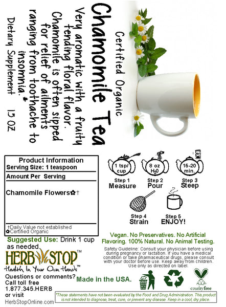 Chamomile Tea Label