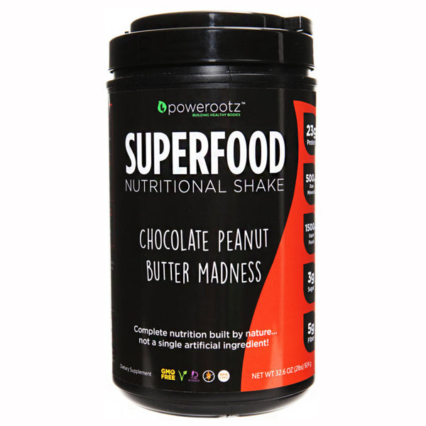 Powerootz SuperFood Chocolate Peanut Butter Madness Protein Shake