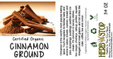 Organic Cinnamon Ground Label