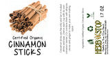 Organic Cinnamon Sticks Label