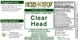 Clear Head Capsules Label