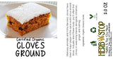 Organic Cloves Ground Label