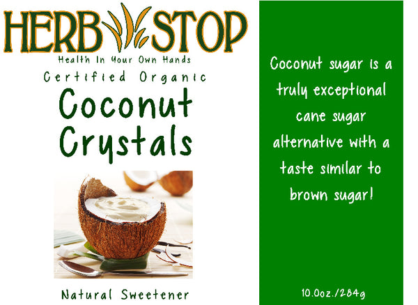 Coconut Sugar Crystals Label