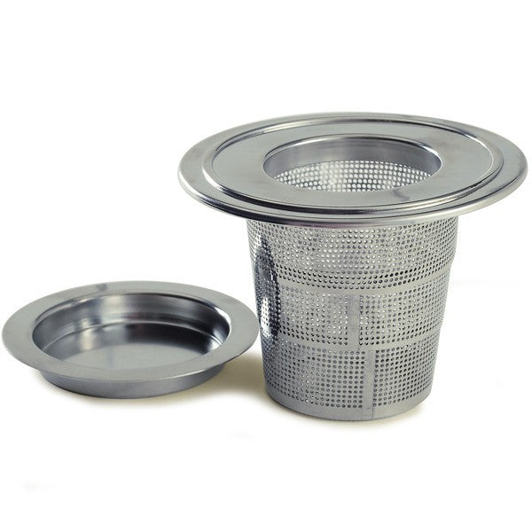 Collapsible Stainless Steel Tea Infuser with Drip Catcher side