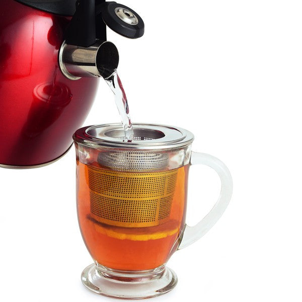 Collapsible Stainless Steel Tea Infuser with Drip Catcher Tea Kettle