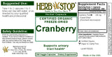 Cranberry Capsules Label