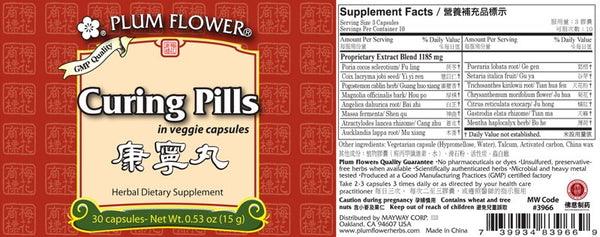 Curing Pills Supplement Facts