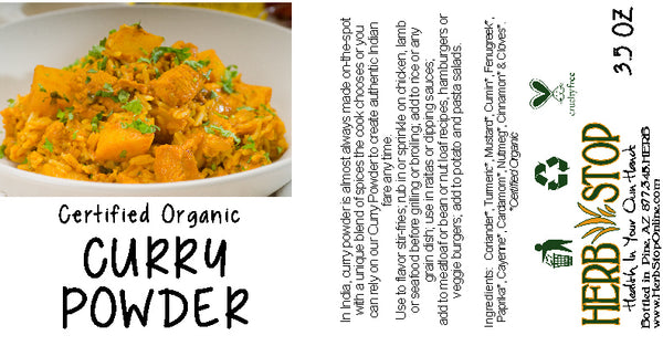 Organic Curry Powder Label