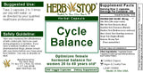 Cycle Balance Capsules Label