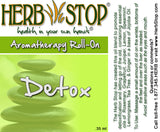 Detox Roll On Oil Blend Label