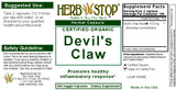Devil's Claw Capsules Label