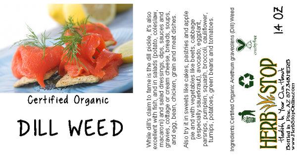 Organic Dill Weed Label