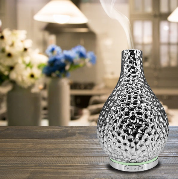 Chrome Ultrasonic Essential Oil Diffuser in Room