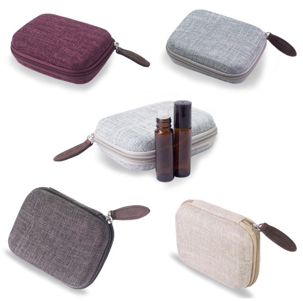 Essential Oil Hard Shell Travel Case Holds 10 Bottles