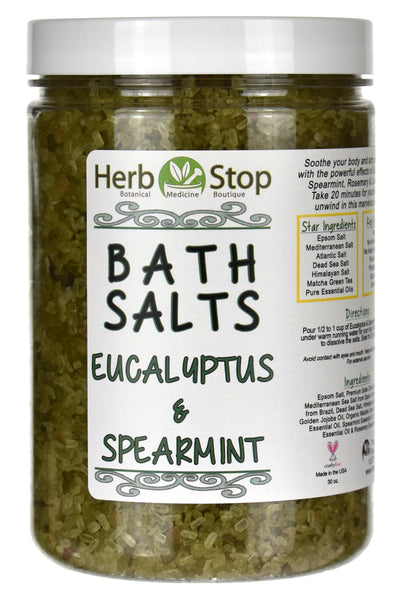 Eucalyptus & Spearmint Bath Salts Jar