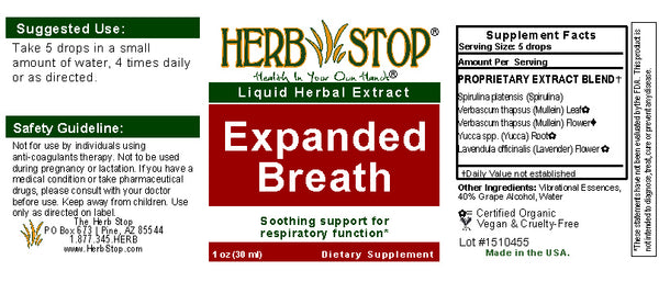 Expanded Breath Extract Label