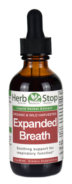 Organic Expanded Breath Liquid Herbal Extract 2 oz Bottle