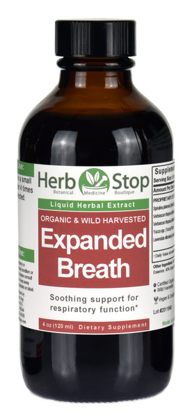 Organic Expanded Breath Liquid Herbal Extract 4 oz Bottle