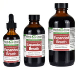 Organic Expanded Breath Liquid Herbal Extract Bottles