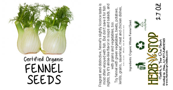 Organic Fennel Seed Label